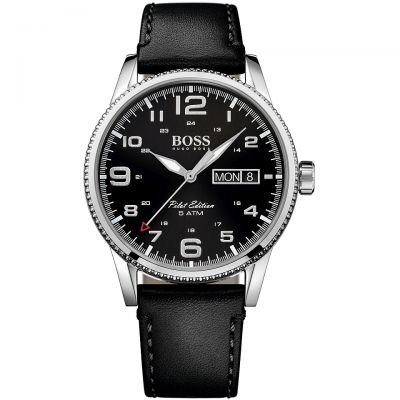 Mens Hugo Boss Pilot Vintage Watch 1513330