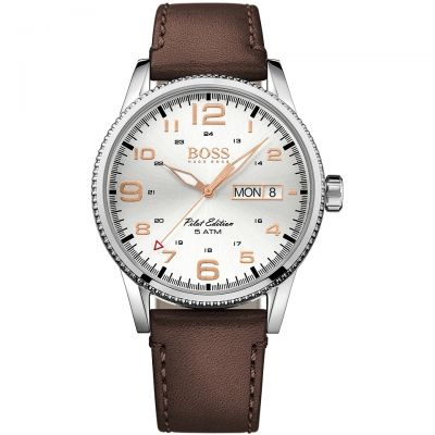 Mens Hugo Boss Pilot Vintage Watch 1513333