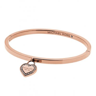 Ladies Michael Kors PVD rose plating Push Button Bangle MKJ5039791