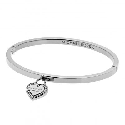 Ladies Michael Kors Stainless Steel Push Button Bangle MKJ5038040