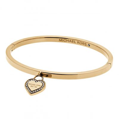 Ladies Michael Kors PVD Gold plated Push Button Bangle MKJ5037710