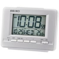 Seiko Clocks LCD Thermometer Desk Alarm Clock QHL070S