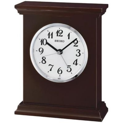 Seiko Clocks Wooden Mantel Alarm QXE053B