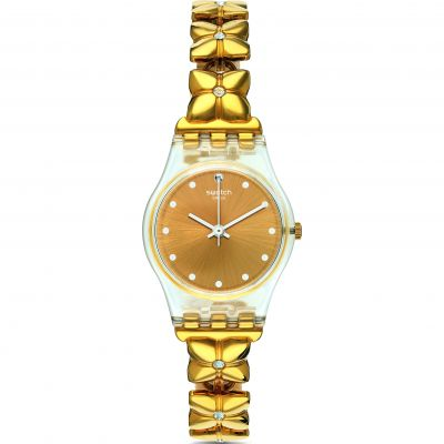 Ladies Swatch Originals Lady -Golden Keeper Watch LK358G