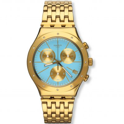 Ladies Swatch Irony Chrono -Turchesa Chronograph Watch YCG413G