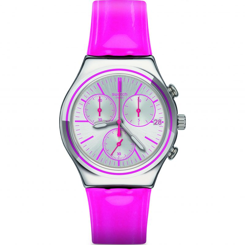 Unisex Swatch Irony Chrono -Proud To Be Pink Chronograph Watch