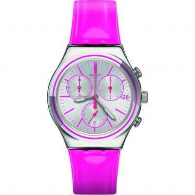 Unisex Swatch Irony Chrono -Proud To Be Pink Chronograph Watch YCS587