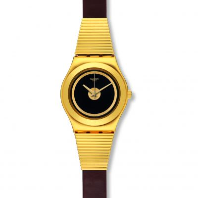Swatch Irony Medium -High Neck Dameshorloge Zwart YLG130