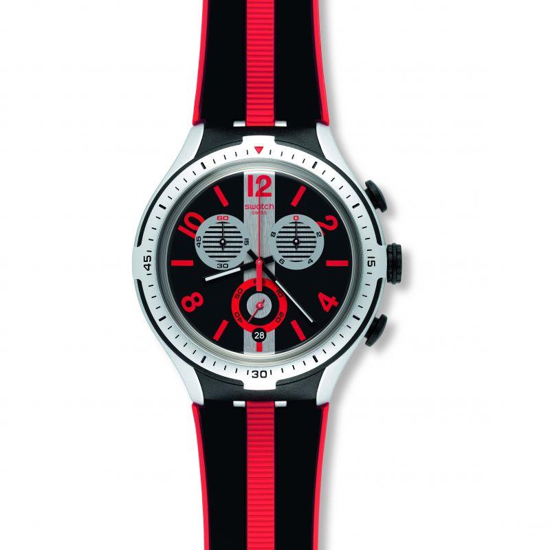 Mens Swatch Irony X-Lite -Stripes Chronograph Watch