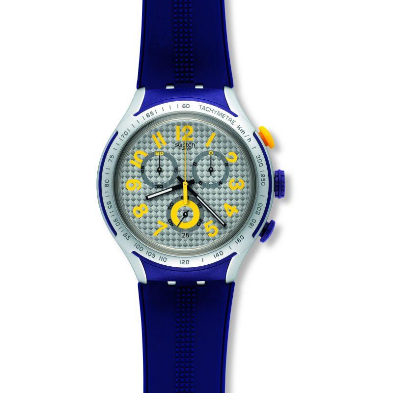 Unisex Swatch Irony X-Lite -Yellow Pusher Chronograph Watch