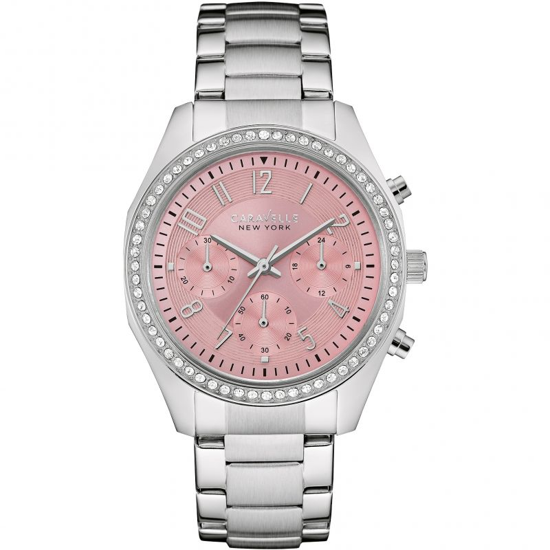 Ladies Caravelle New York Chronograph Watch 43L191