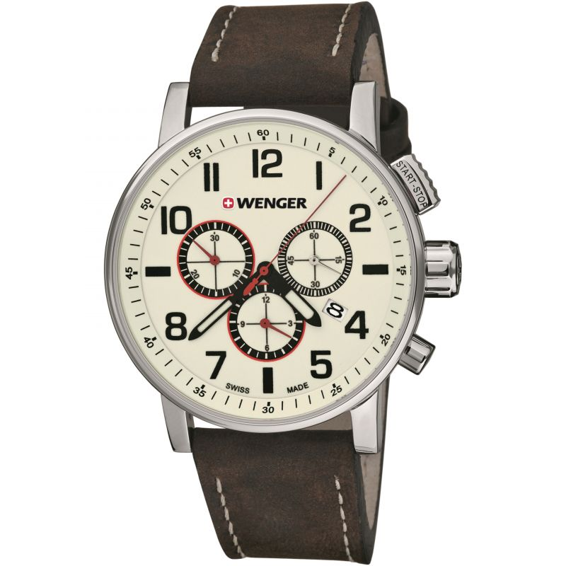 Mens Wenger Attitude Chrono Chronograph Watch