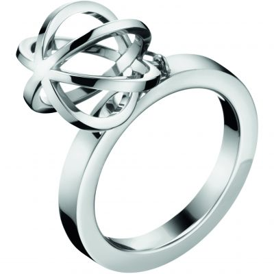 Ladies Calvin Klein Stainless Steel Size L Show Ring KJ4XMR000206