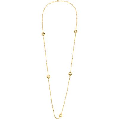 Ladies Calvin Klein PVD Gold plated Show Necklace KJ4XJN100100