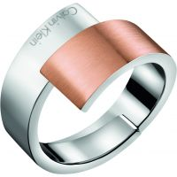 Ladies Calvin Klein Two-Tone Steel and Rose Plate Size P Intense Ring KJ2HPR280108