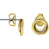 Ladies Calvin Klein Gold Plated Continue Earrings KJ0EJE100100