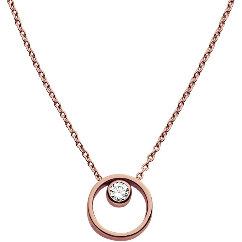 Ladies Skagen PVD rose plating Elin Necklace SKJ0850791