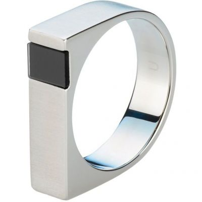 Mens STORM Stainless Steel Jaxton Ring Size U JAXTON-RING-BLACK-U