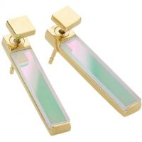 Ladies STORM PVD Gold plated Silica Earrings SILICA-EARRING-GOLD-ICE