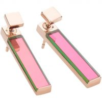 Ladies STORM PVD rose plating Silica Earrings SILICA-EARRING-RG-PURPLE