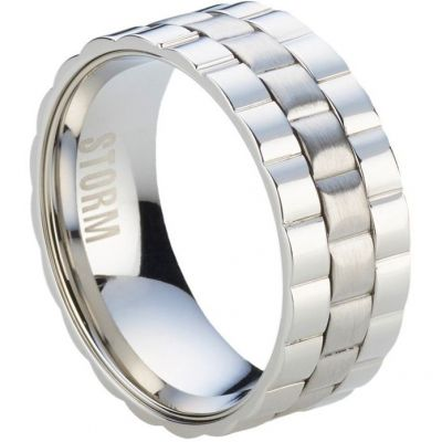 Mens STORM Stainless Steel Velo Ring Size W 9980738/S/W