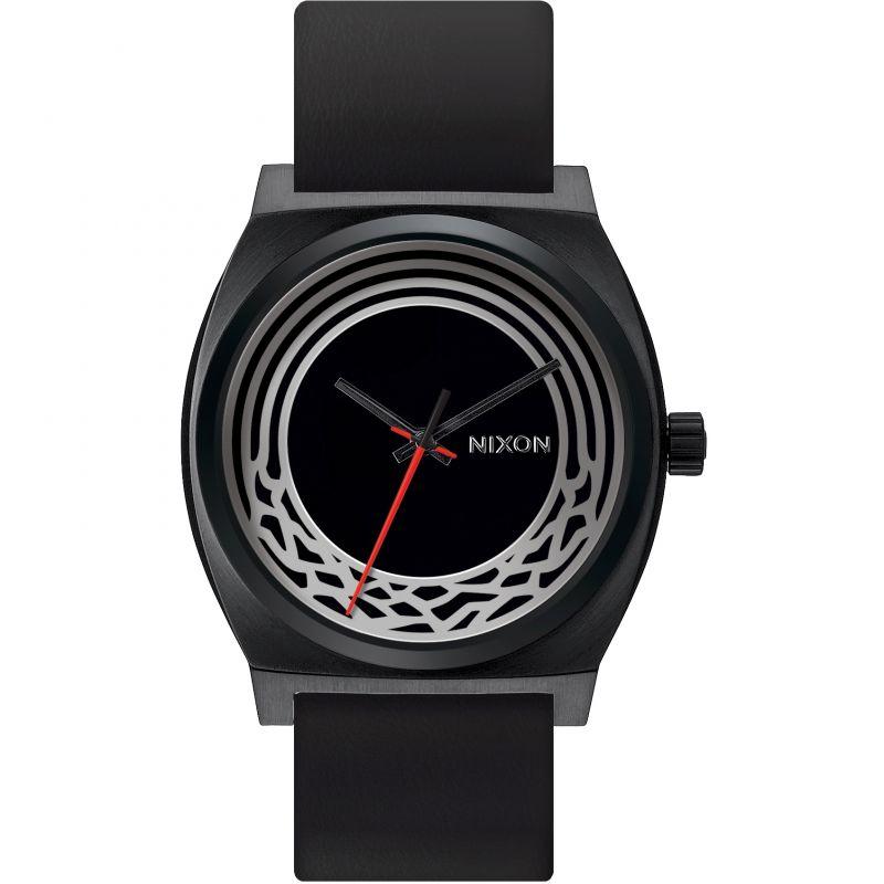 Mens Nixon The Time Teller Leather Star Wars Kylo Ren Watch