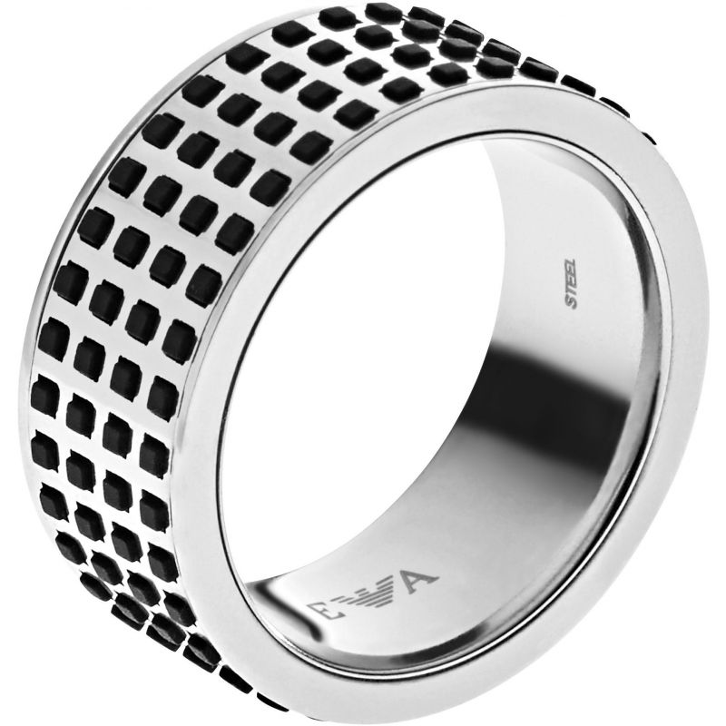 Mens Emporio Armani Stainless Steel Size U Off The Grid Ring