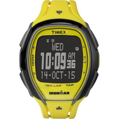 Timex Sleek 150-Lap Ironman Herrenchronograph in Gelb TW5M00500