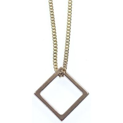 Mens Icon Brand Base metal Stolen Not Bought Necklace P1049-N-GLD