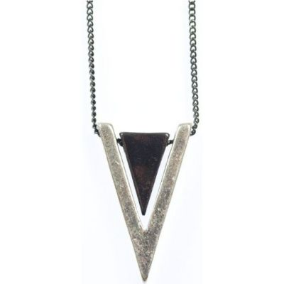 Icon Brand Base metal Trifecta Necklace P1092-N-SIL