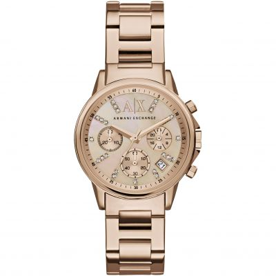 Armani Exchange Damenchronograph in Rosa AX4326