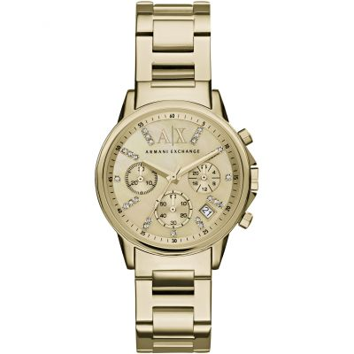 Armani Exchange Damenchronograph in Gold AX4327