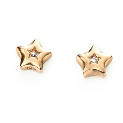 Childrens D For Diamond Sterling Silver Earrings E5008