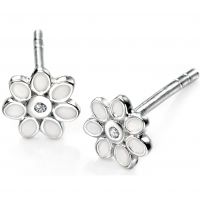 Ladies D For Diamond Sterling Silver Earrings E4122