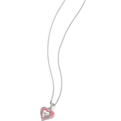 Childrens D For Diamond Sterling Silver Necklace P4107
