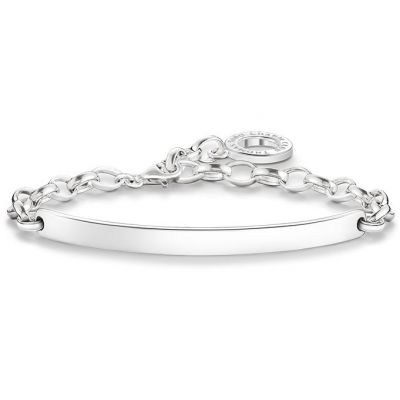 Ladies Thomas Sabo Sterling Silver Bracelet Charm Carrier X0211-001-12-L18V