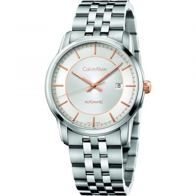 Mens Calvin Klein Infinity Automatic Watch K5S34B46