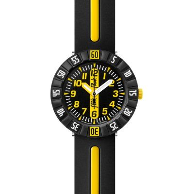 Childrens Flik Flak Yellow Ahead Watch FCSP033