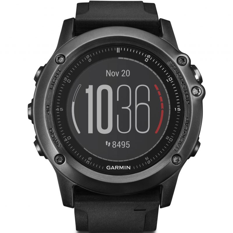 Unisex Garmin Fenix 3 Sapphire HR Performer Bundle Alarm Chronograph Watch