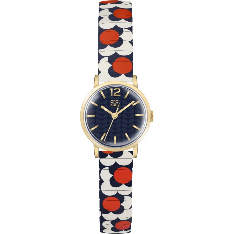 Ladies Orla Kiely Flower Pop Watch