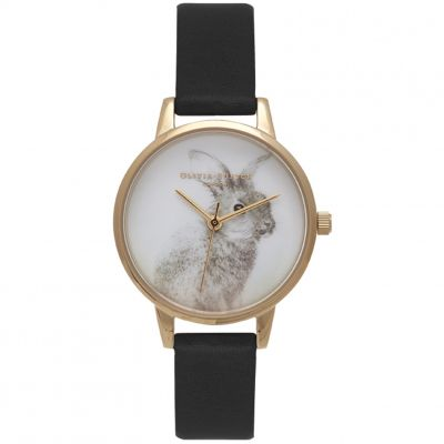 Vegan Friendly Bunny Gold & Black Watch