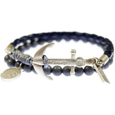 Icon Brand Unisex Silica Bracelet Basismetaal LE1130-BR-COM-NVY