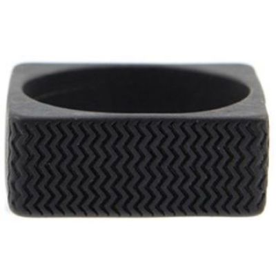 Icon Brand Unisex Surface Ring Size Large Basmetall P1093-R-BLK-LGE