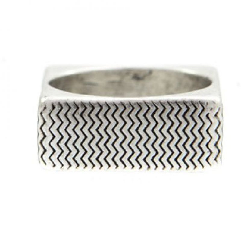 Icon Brand Base metal Surface Ring Size Medium P1093-R-SIL-MED