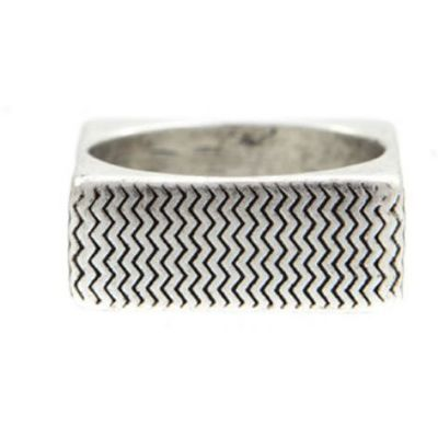Icon Brand Unisex Surface Ring Size Medium Basismetaal P1093-R-SIL-MED