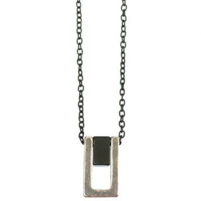 Icon Brand Unisex Piermont Necklace Basmetall P1098-N-BLK