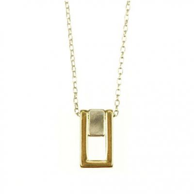 Icon Brand Unisex Piermont Necklace Basmetall P1098-N-GLD