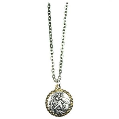 Icon Brand Base metal Journey Planner Necklace P1153-N-SIL