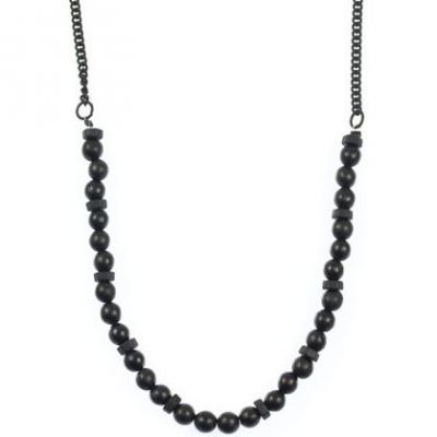 Icon Brand Base metal Half Life Necklace P1156-N-BLK