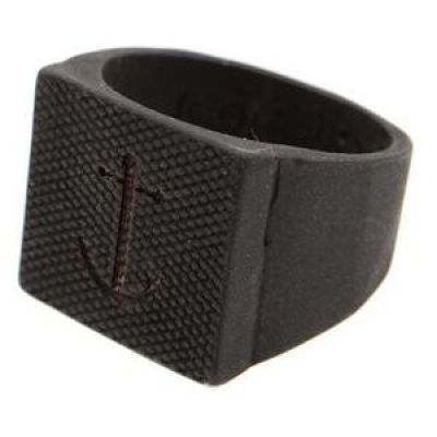 Icon Brand Unisex Blythe Ring Size Large Basismetaal P1165-R-BLK-LGE